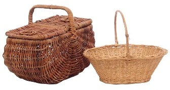 Basket - Wicker with handle