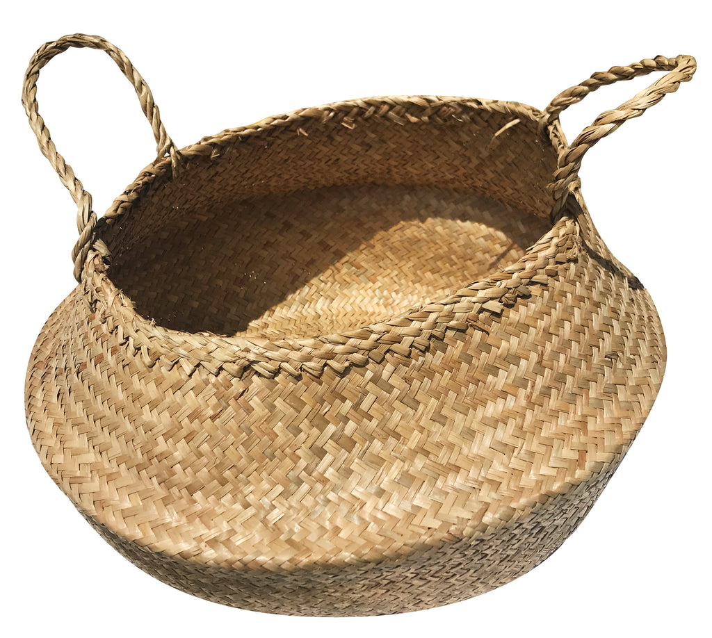 Basket - Belly Woven with gold
