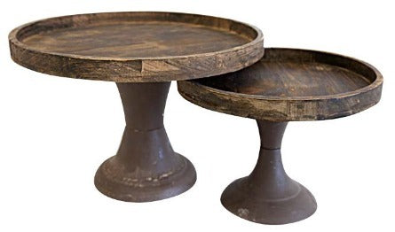 Cake Stand - Rustic Wooden Large
