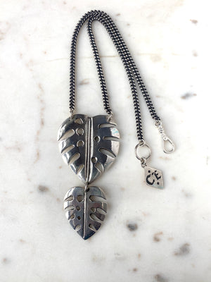 XL Monstera Necklace