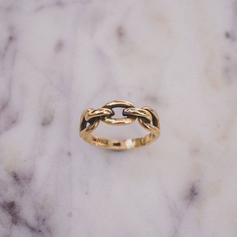 14k Heavy Chain Link Ring