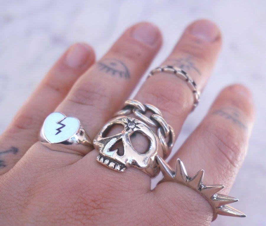 Heavy Chain Link Ring