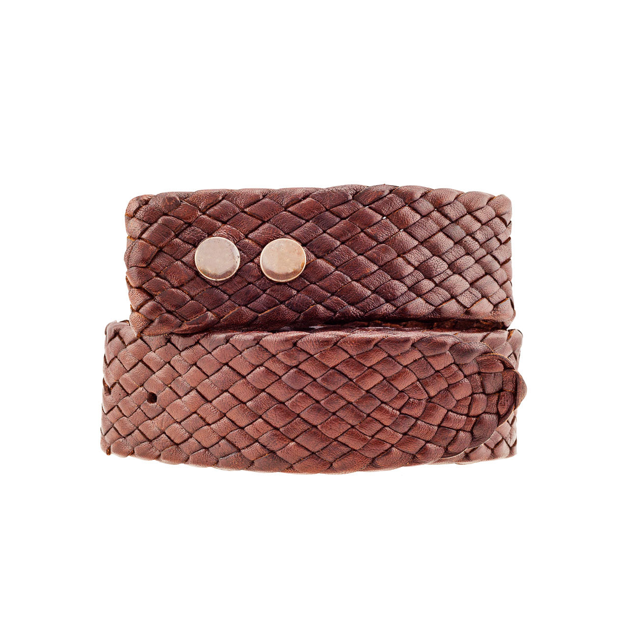 Rodeo Kangaroo Plaited Mens Buckle Belt (38mm Wide)