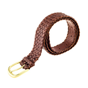 Monash Kangaroo Plaited Mens Buckle Belt (30mm Wide)