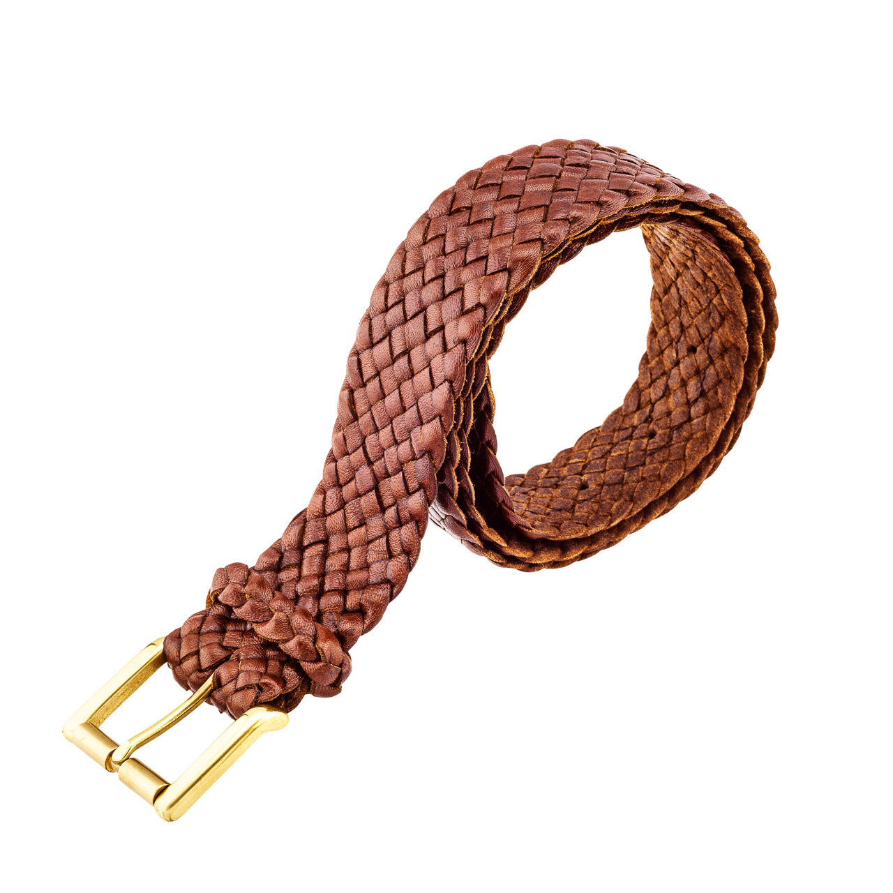 Squatter Kangaroo Plaited Mens Buckle Belt (30mm Wide)