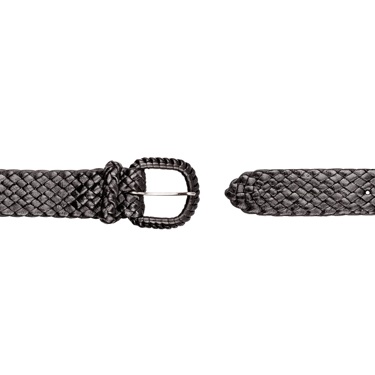 Pioneer - Kangaroo Plaited Ladies Leather Buckle Belt (30mm Wide)