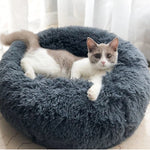 Multicolor pink gray beige Cat Dog Pet Bed Super Soft Warm Round Comfortable Depth Super Cute Kennel Pillow