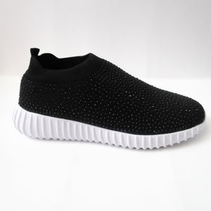 Black Crystal Slip-on Sneaker