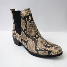 Load image into Gallery viewer, Snakeskin Print Ankle Booties