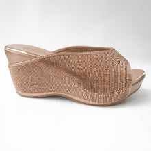 Load image into Gallery viewer, Rose Gold All-over Crystal Wedges