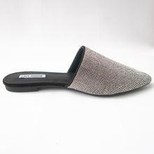 Load image into Gallery viewer, Pointed-toe Slip-on Crystal Mules