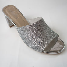Load image into Gallery viewer, Silver Glitter Heels