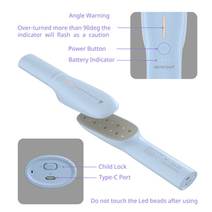 Senerport LED Sanitizer Wand--Sky Blue