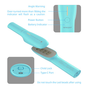 Senerport UVC Light Sanitizer Wand--Turquoise Blue