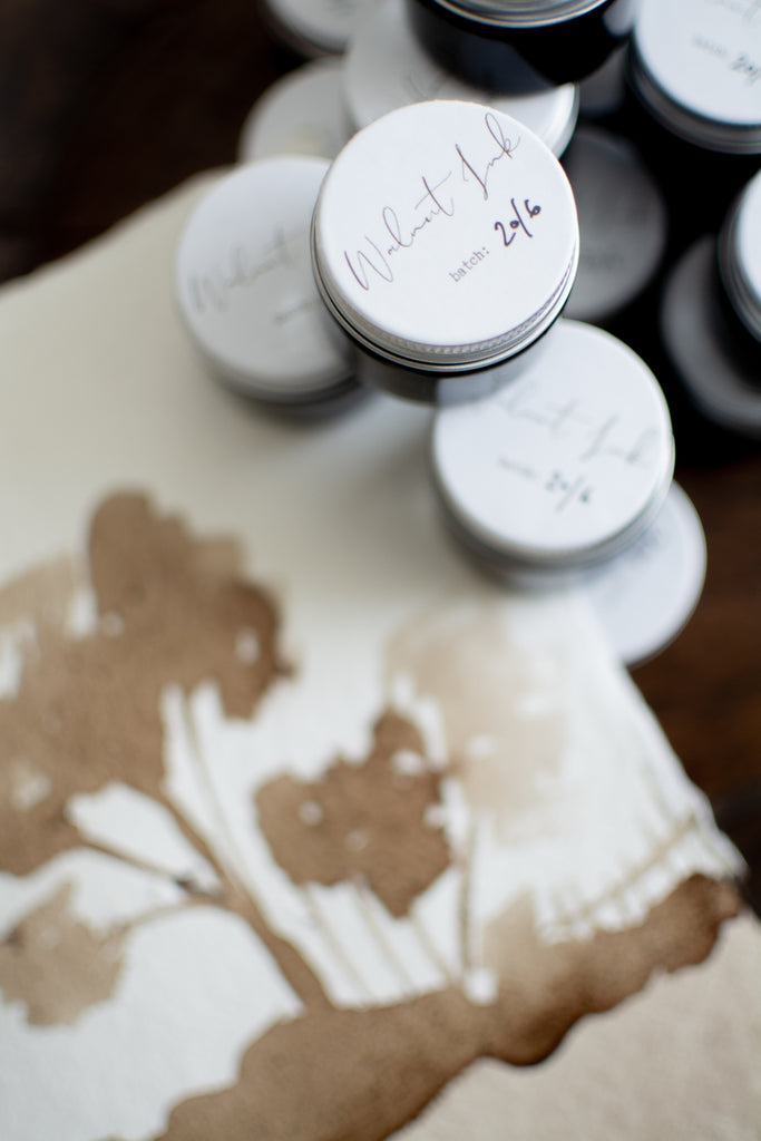 What can I create with walnut ink?