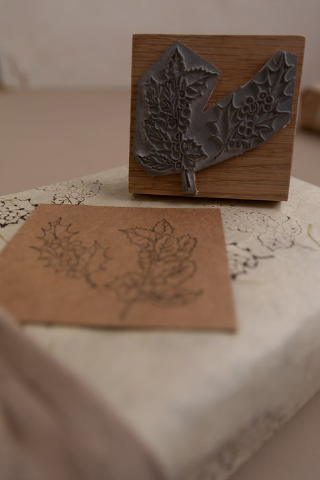 Holly Leaf Design Stamp