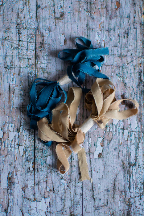 Narrow bamboo silk ribbon