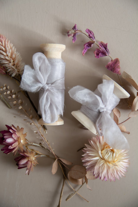 Heather Mist Peace Silk Ribbon