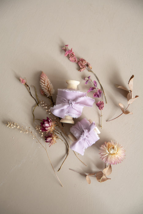 Lilac Bamboo Silk Ribbon