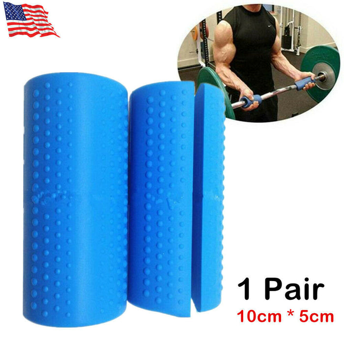 1 Pair Thick Fat Grips Thick Bar Arm Muscle Builder Silicone Dumbbell Hand Grip