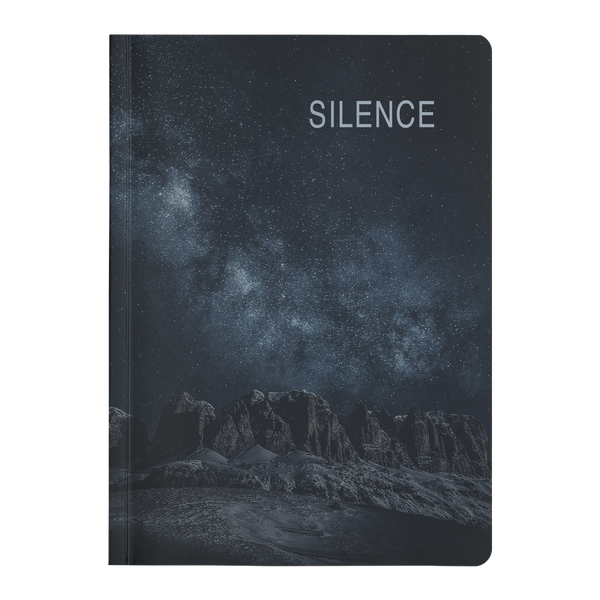 Paperback Journal - SILENCE - 2 sizes