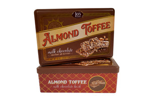 Milk Chocolate Almond Toffee Bark Gift Tin - Jo's Candies