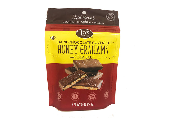 Dark Chocolate Covered Graham Crackers with Sea Salt - Jo's Candies