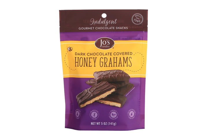 Dark Chocolate Covered Honey Graham Crackers - Jo's Candies