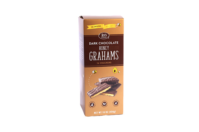 Original Dark Chocolate Covered Graham Crackers - Jo's Candies