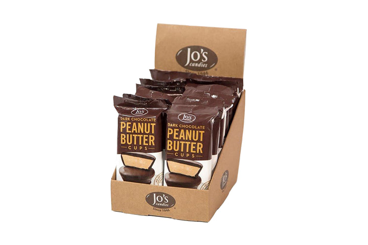 Dark Chocolate Peanut Butter Cups - Jo's Candies