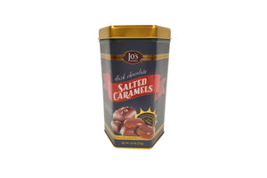 Dark Chocolate Salted Caramels Gift Tin - Jo's Candies