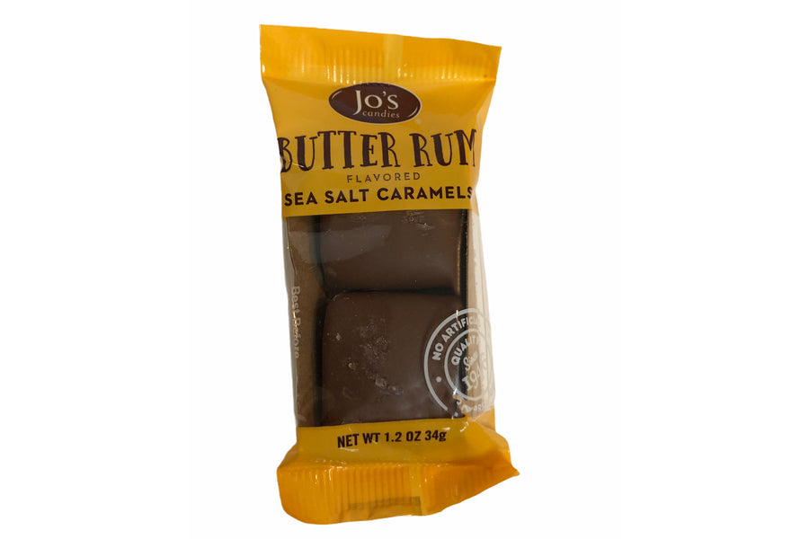 Milk Chocolate Butter Rum Salted Caramels (10 - 2pc Packs)