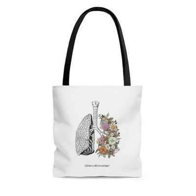 Flowering Lungs Tote - Nurse Life Boutique
