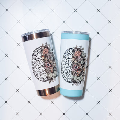 Flowering Brain Tumbler - Nurse Life Boutique