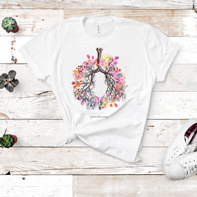 Floral Bronchi Short Sleeve T-Shirt - Nurse Life Boutique