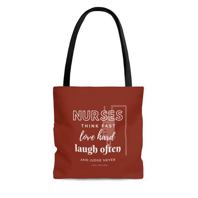 Nurses Think, Love, Laugh Tote Red - Nurse Life Boutique