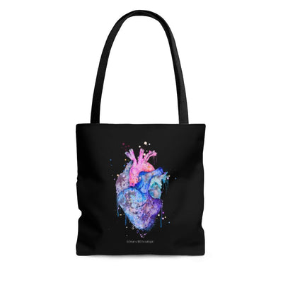 Watercolor Heart Tote - Nurse Life Boutique