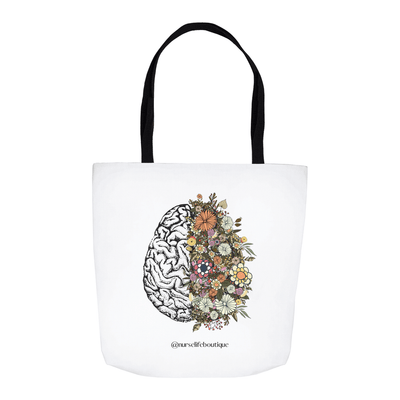 Flowering Brain Tote - Nurse Life Boutique