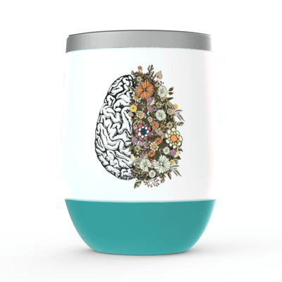 Flowering Brain Stemless Wine Tumbler - Nurse Life Boutique