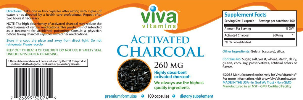 Charcoal (Activated) Label