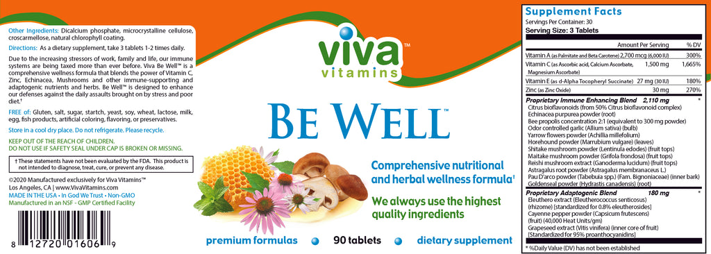 Be Well Label