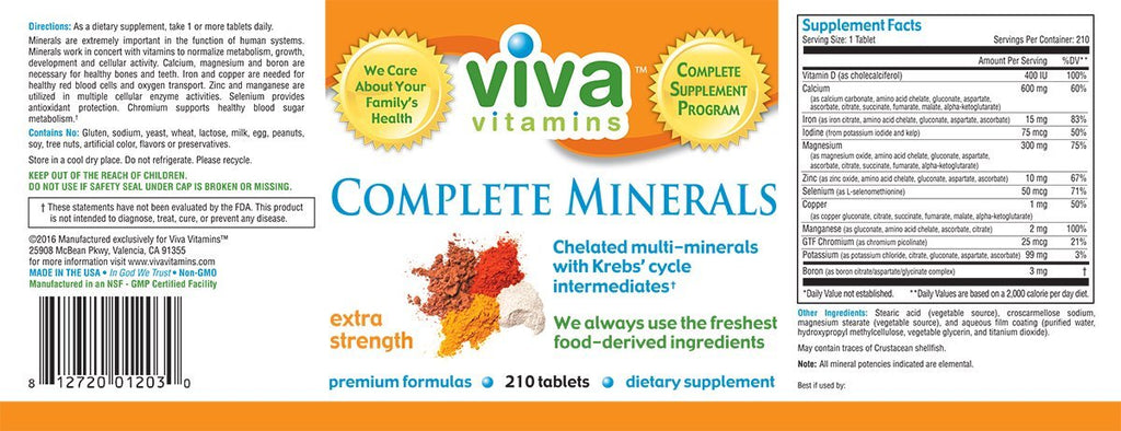 Complete Minerals – Extra Strength Label