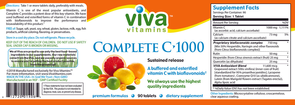 Complete C 1000mg Label