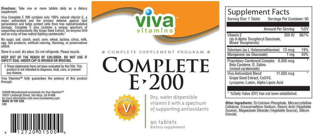Complete E-200 Label