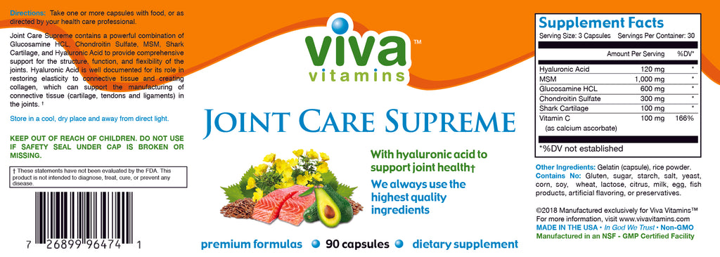 Joint Care Supreme Label