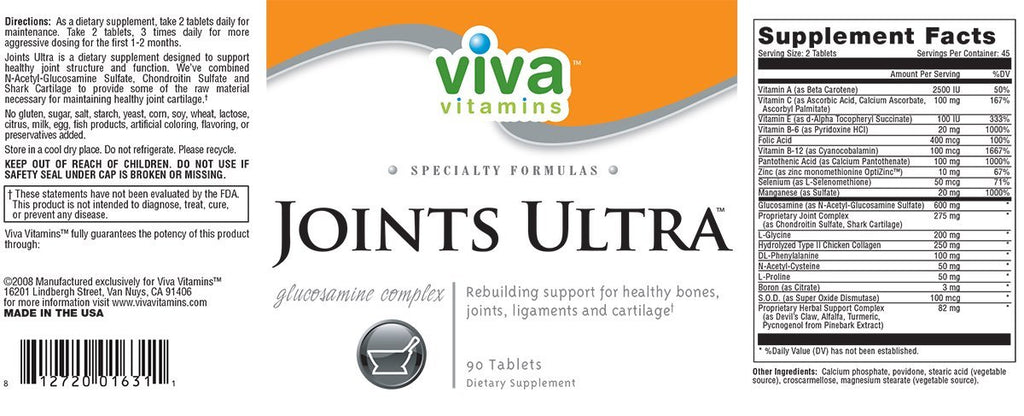 Joints Ultra Label