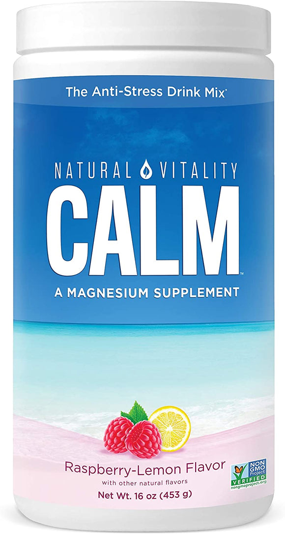 Natural Vitality Calm Raspberry Lemon 16 OZ