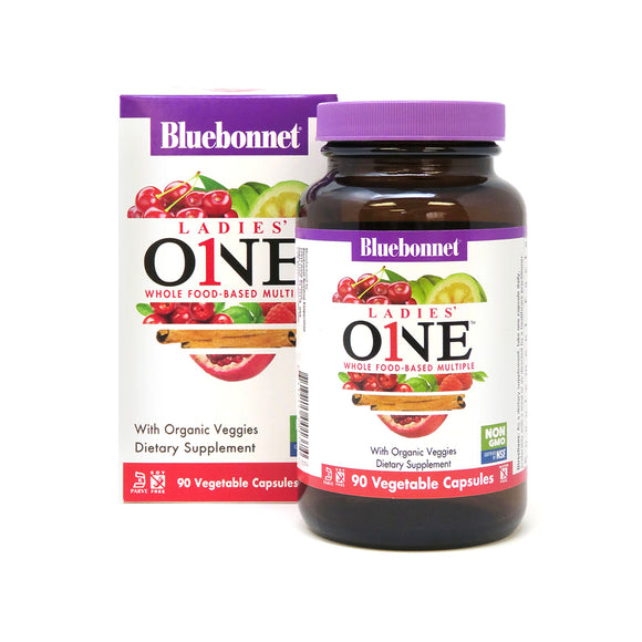 Bluebonnet LADIES' ONE™ WHOLE FOOD-BASED MULTIPLE 90 veggie caps