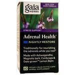 Gaia Herbs Adrenal Health - Nightly Restore 60 vcaps