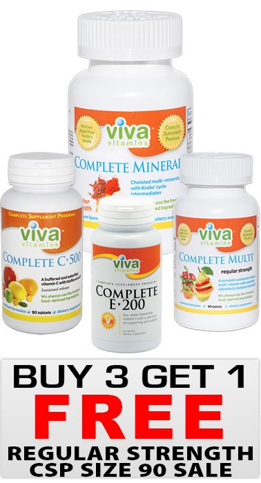 Viva Vitamins CSP 90 Size Regular Strength SPECIAL!